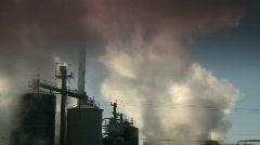Industry, smoke stacks, #1 Stock Footage