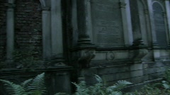Parthenon gothic dark jewish cemetary Stock Footage