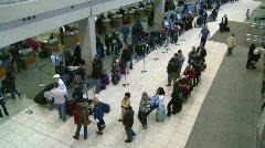 People at airport terminal Stock Footage