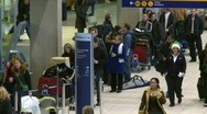 Airport departures people line ups, #6  Stock Footage