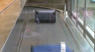 Airport luggage, #2 high speed Stock Footage