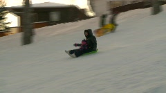 fitness, toboggan hill, winter snow sports, #3 - stock footage