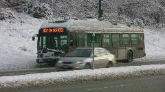 Broken bus. Stock Footage