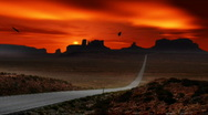 Stock Video Footage of apache indian reservation at sunset in northern arizona