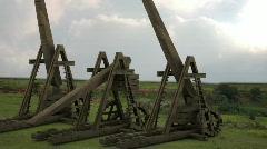 Trebuchet Siege Stock Footage