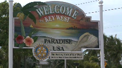 Welcome to Key West Florida Sign Stock Footage