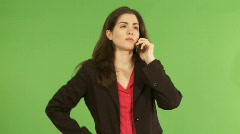 woman stressing over the phone  - stock footage