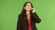 Woman stressing over the phone  Stock Footage