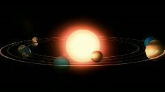 THE SOLAR SYSTEM - stock footage