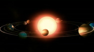 Stock Video Footage of THE SOLAR SYSTEM