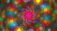 Rainbow spiral Stock Footage