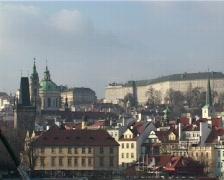 Prague castle in winter Stock Footage