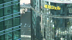 Tokyo ginza mirror peg Stock Footage