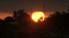 Florida Sunset Sunset Timelapse Stock Footage