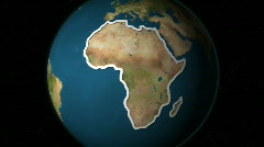 Earth Highlight 300 - Africa - stock footage