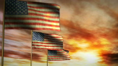 1043 Star Spangled Banners - stock footage
