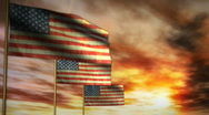 1043 Star Spangled Banners Stock Footage
