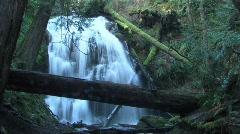 Shutter Speed Orcas Island Waterfall Stock Footage