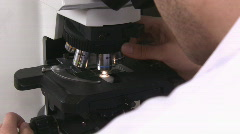 Microscope examination Stock Footage