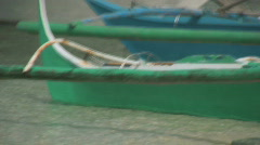 The hull of an Traditional filipino outrigger  Stock Footage