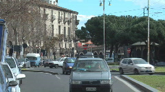 Traffic on city street / Catania, Italy - stock footage