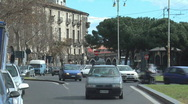 Stock Video Footage of Traffic on city street / Catania, Italy