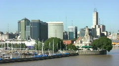 Buenos Aires Cityscape Stock Footage