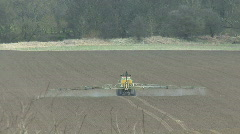 Crop sprayer 6 - rear view - stock footage