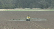 Crop sprayer 6 - rear view Stock Footage