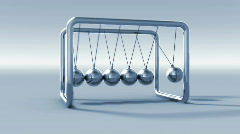 Newton Cradle Stock Footage