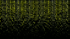 Matrix. Smiley. Alpha channel is included. Stock Footage