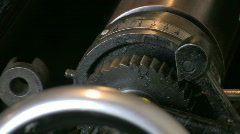Printing press in action Stock Footage