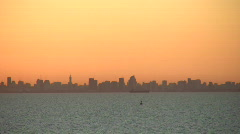 City silhouette at sunet 1 Stock Footage