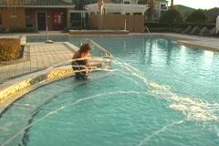 Mother and Daughter in a Swimming Pool-7 - stock footage