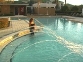 Stock Video Footage of Mother and Daughter in a Swimming Pool-7