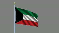 Flag of Kuwait Stock Footage