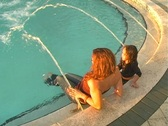 Stock Video Footage of Mother and Daughter in a Swimming Pool-10
