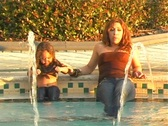 Stock Video Footage of Mother and Daughter in a Swimming Pool-11