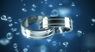 Stock Video Footage of Platinum rings