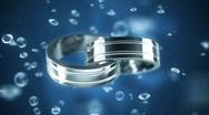 Platinum rings  Stock Footage