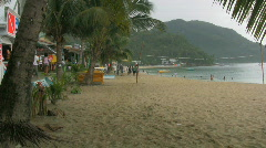 The popular tourist area white beach on oriental mindoro - Philippines Stock Footage