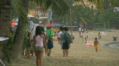 The popular tourist area white beach on oriental mindoro in Philippines Stock Footage