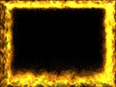 Fire frame in a seamless loop (includes Alpha channel) Stock Footage