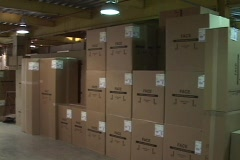 Boxes in Storage Stock Footage