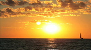 SUNSET OVER LAKE Stock Footage