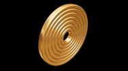 Stock Video Footage of Spinning Gold Rings 02