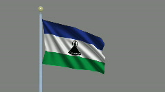 Flag of Lesotho Stock Footage