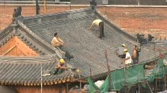 Beijing Roof Repair Stock Footage