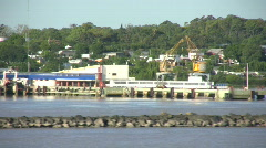 Colonia harbor Uruguay 1 Stock Footage