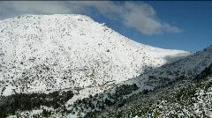 Snowy mountain time lapse Stock Footage